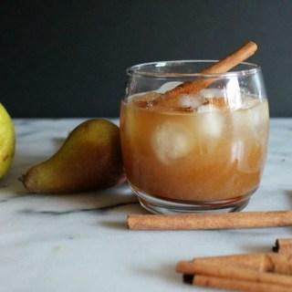 Vanilla Spiced Pear Cocktail