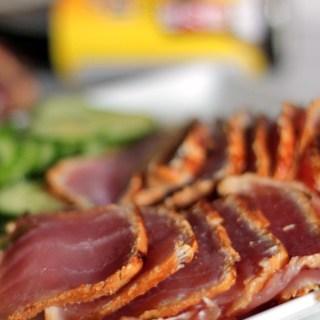 Ponzu Marinated 2 Minute Sea Steak (Seared Tuna)