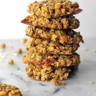 Gluten Free Caramel Apple Oatmeal Cookies
