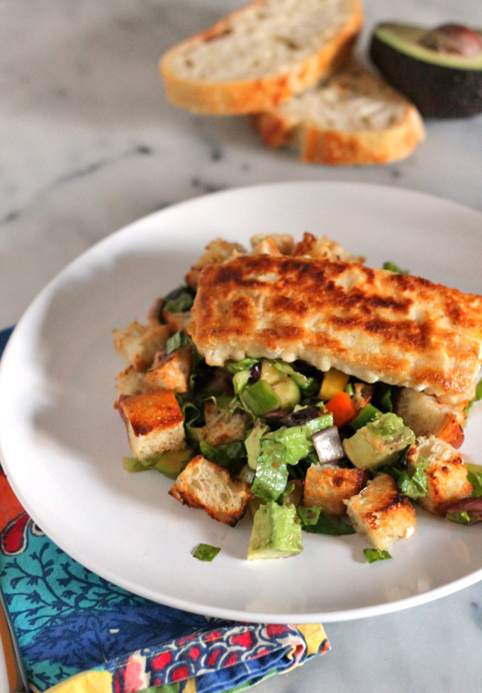 mediterranean panzanella salad
