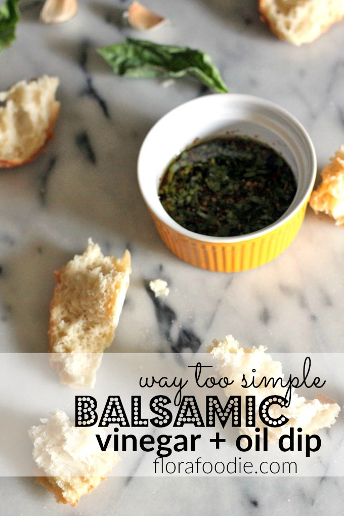 balsamic vinegar oil dip