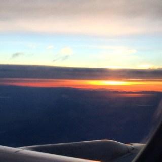 In-flight sunrise!
