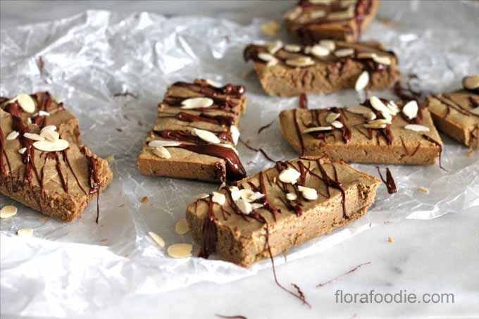 homemade almond protein bars