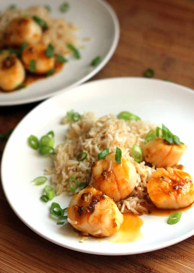spicy orange seared scallops
