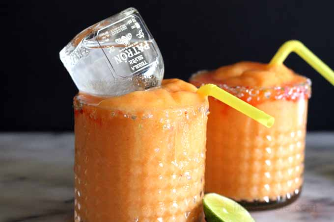 watermelon peach margaritas