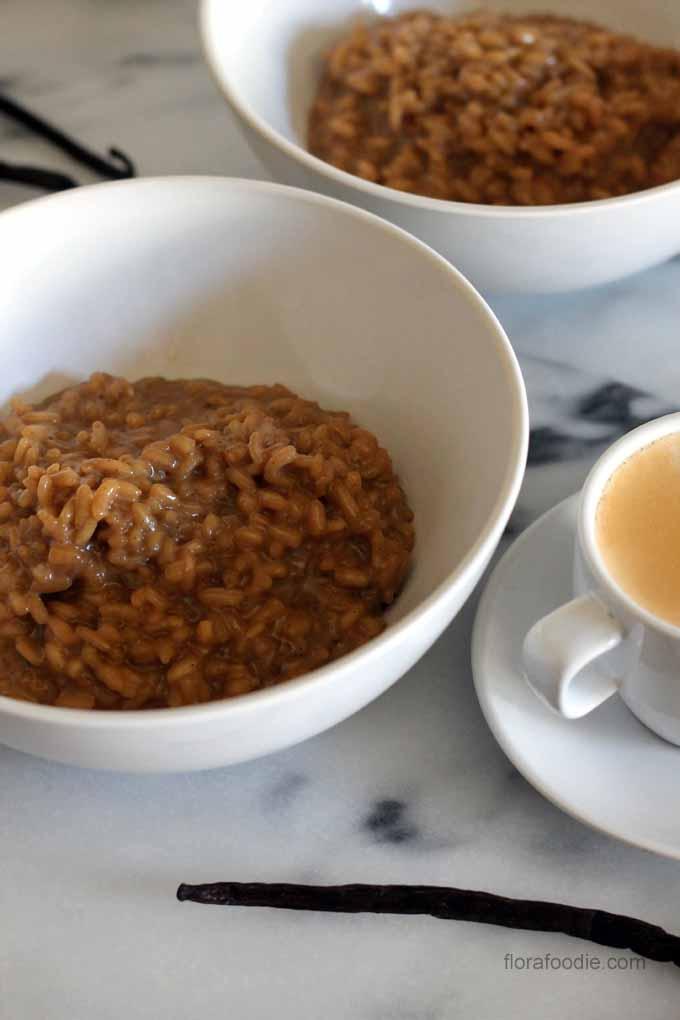 Vanilla Latte Rice Pudding | florafoodie.com