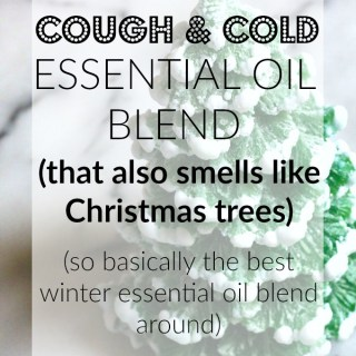 Cough and Cold Essential Oil Blend (That Smells Like Christmas Trees)