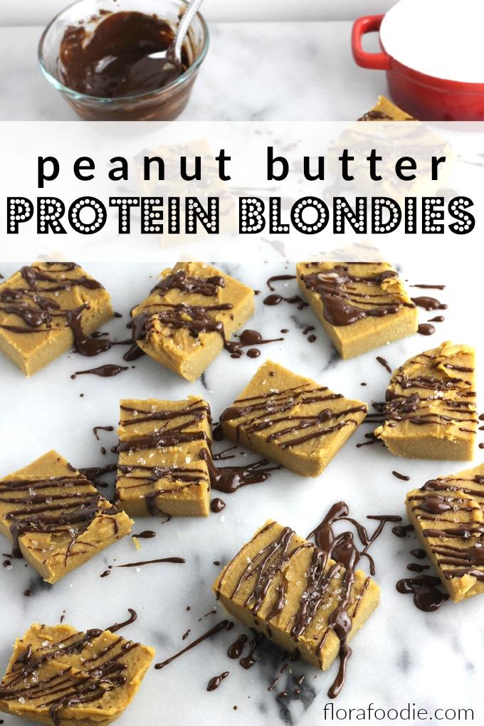 peanut butter protein blondies