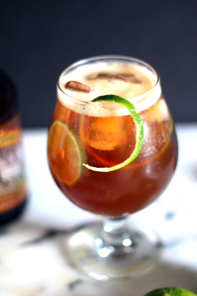 maple lime bourbon beer cocktail
