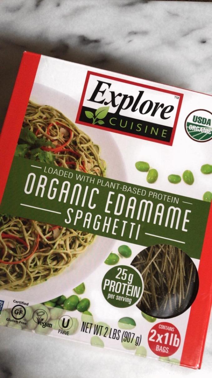 sesame + honey edamame spaghetti