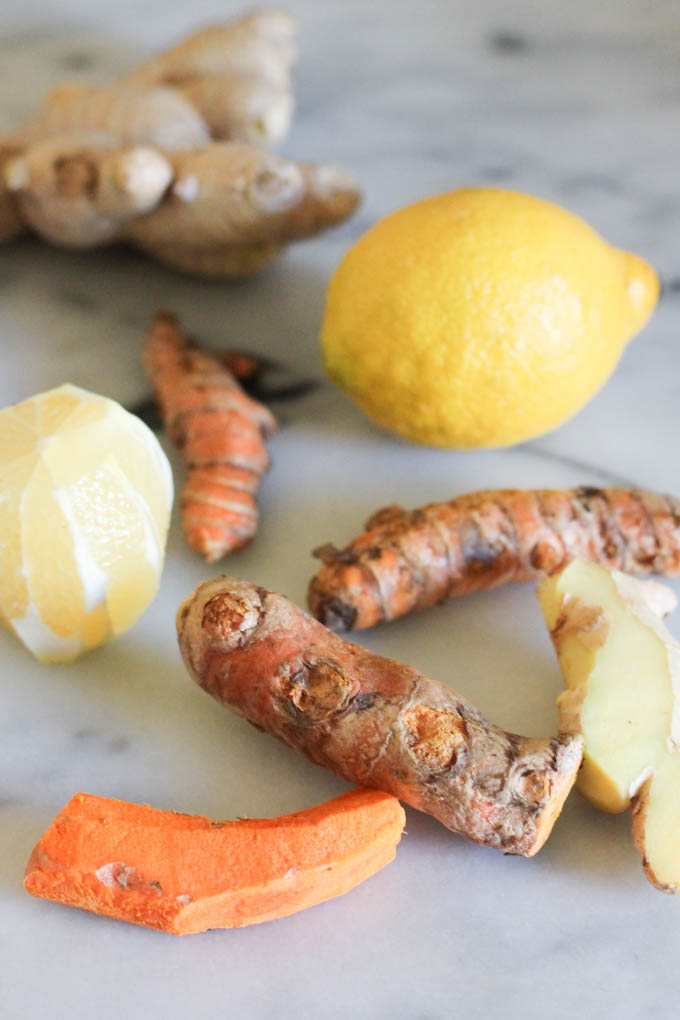 Lemon Ginger Turmeric Wellness Shots