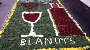 Even Blandy's Wine Lodge was sporting a flower carpet.