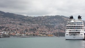 The beautiful Seabourn Quest docked in Funchal, Madeira.
