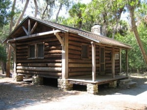 Log cabins at Myakka State park near Sarasota