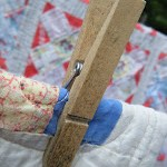 Vintage Quilts on the Clothesline