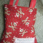 Fabric Christmas Gift Bag Tutorial