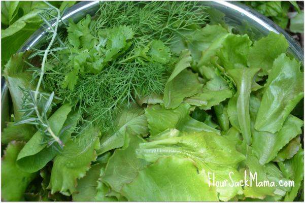 Lettuce Organic Garden Flour Sack Mama