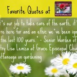 Favorite Quote on Thoughtful Gardening