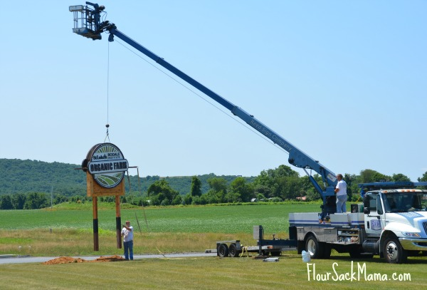 Rodale Hospital Farm Sign Install