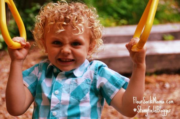 Muscle Kid on Playground