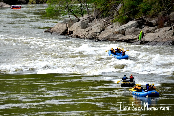 Boaters on River West Virginia