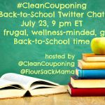 Share Back-to-School Tips for a Smarter, Greener Year: #CleanCouponing Twitter Chat