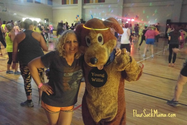 Zumbathon dog suit