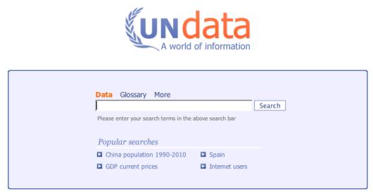 UNdata Homepage