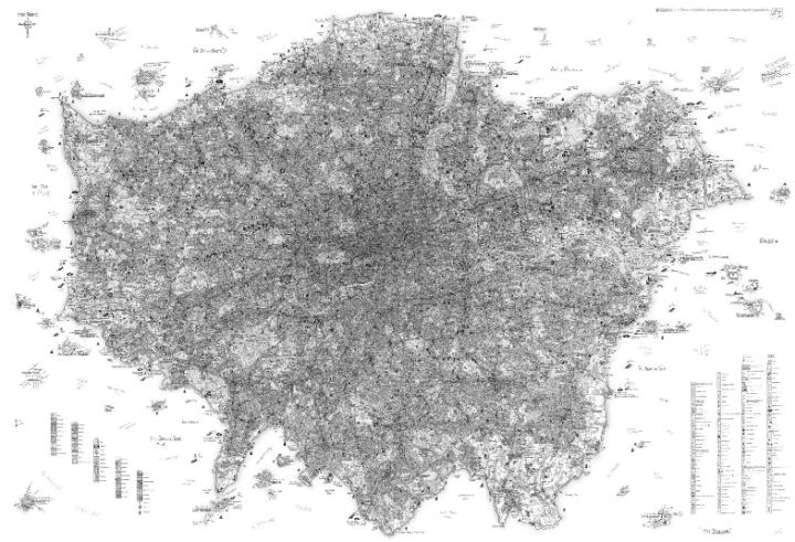 London hand-drawn detail