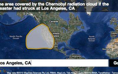 Chernobyl radiation cloud map