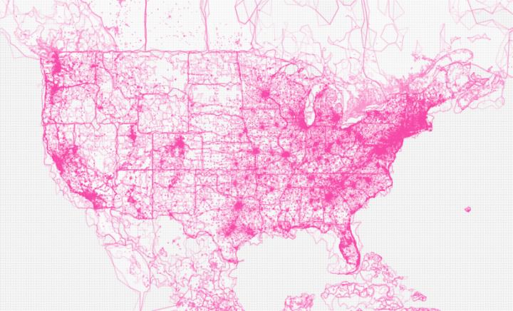 Flickshapes map with polymaps