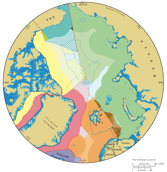 Map of who owns Arctic