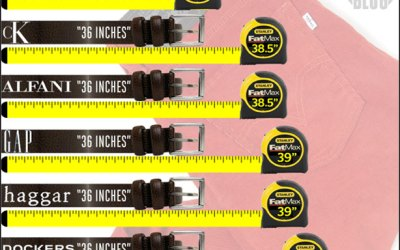 waistline measurement chart for men