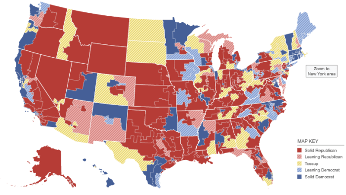 House Race Ratings on NYT