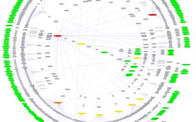 Network visusalization - Radial layout
