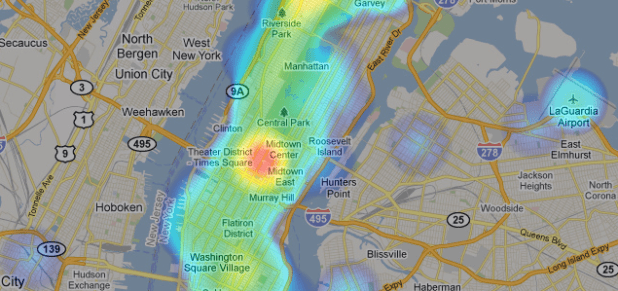Foursquare heatmap