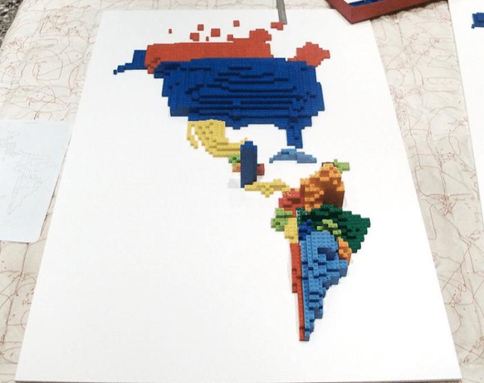 Immigrants to the United States via LEGO