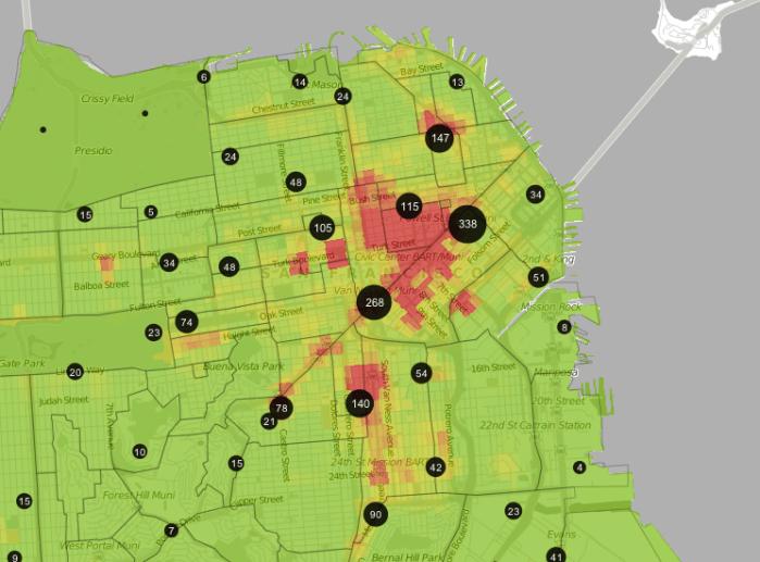 Trulia crime maps  - San Francisco