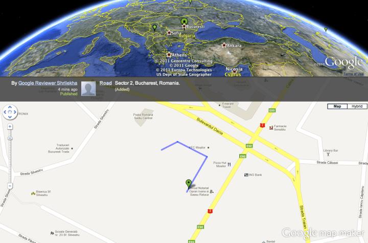 Google Map Maker edits