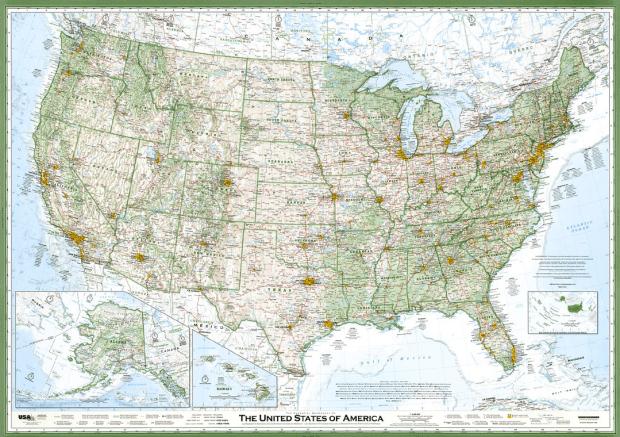 Hand-made American map