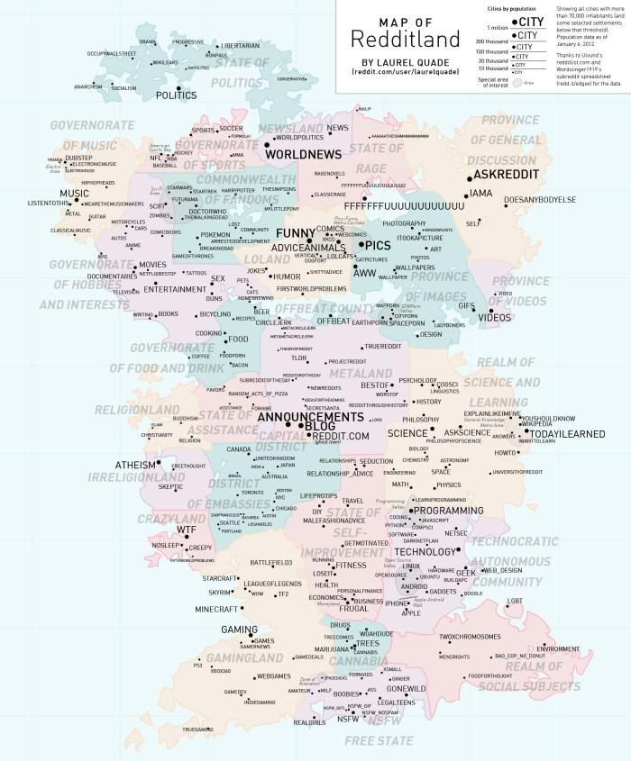 Map of Redditland
