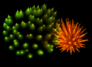 Long-exposure fireworks