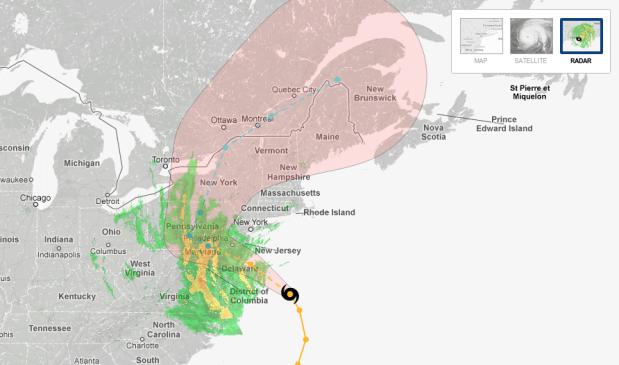 Hurricane tracker by New York Times