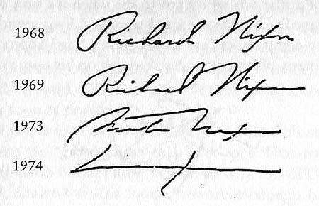 Nixon signature