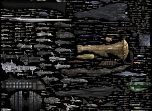 Spaceships, size comparison