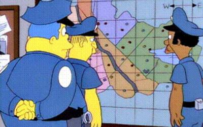 Simpsons dot map
