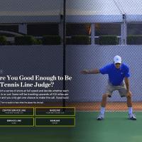 Tennis line judge