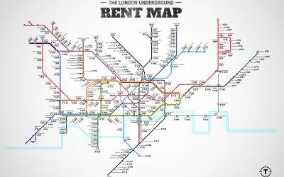London Underground Rent Map