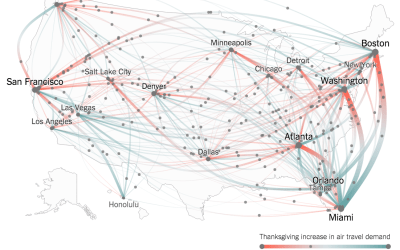 Thanksgiving Flight Patterns by New York Times