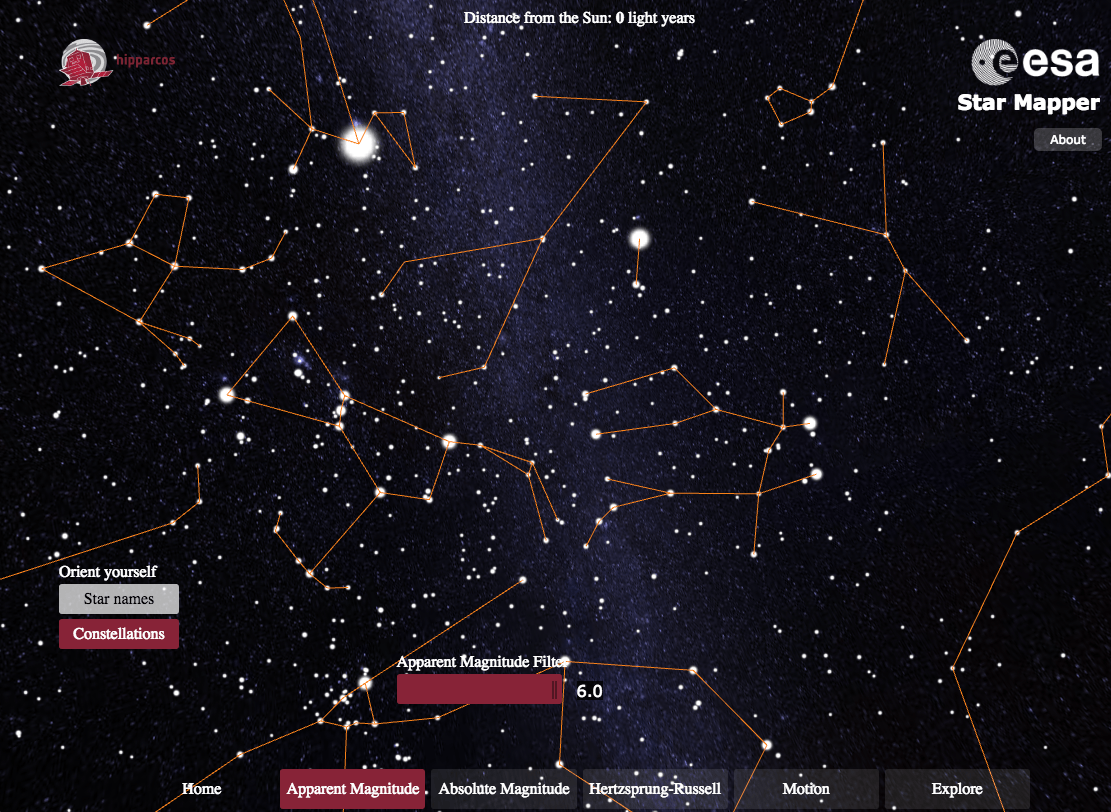 Explore the stars with this interactive Star Mapper